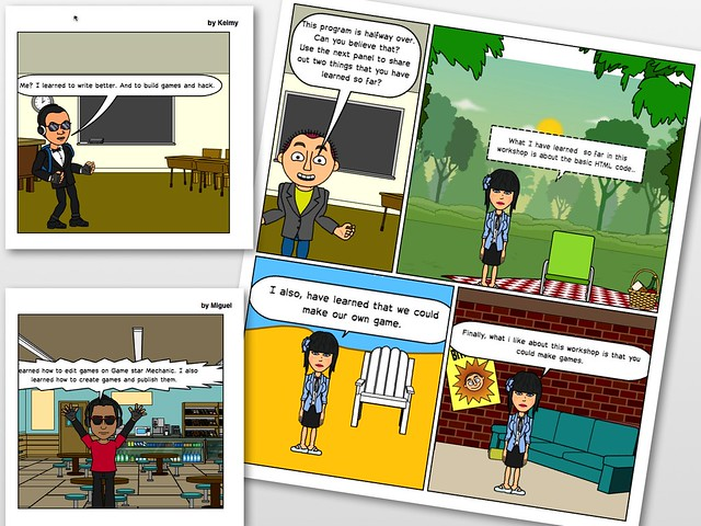 Comic Reflections: Students Reflect on Digital Literacy Skills