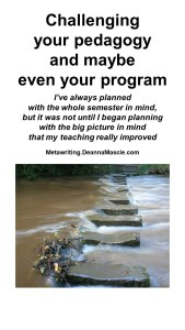 Challenging your pedagogy and maybe even your program