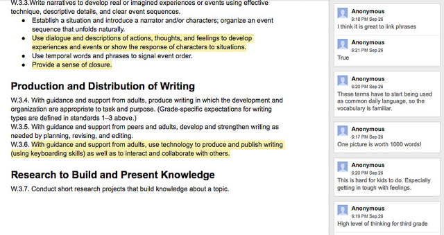 Crowdsourcing an Annotation of the Common Core