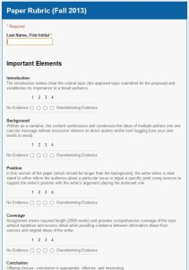 Grading Using Google Forms