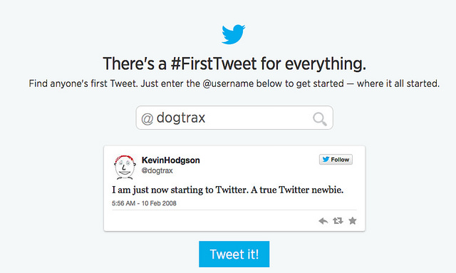 Looking Back at the First Tweet, and Six Years of Tweeting