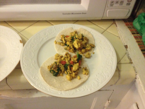 Make of the Day: Tofu Scramble Tacos #ce14