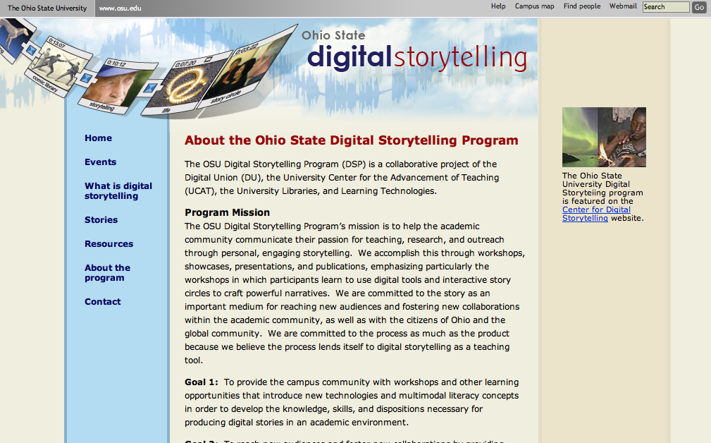 Digital Storytelling Program at the Ohio State University