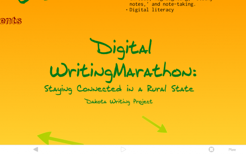 Digital Writing Marathon: Keeping Teachers Connected in a Rural State