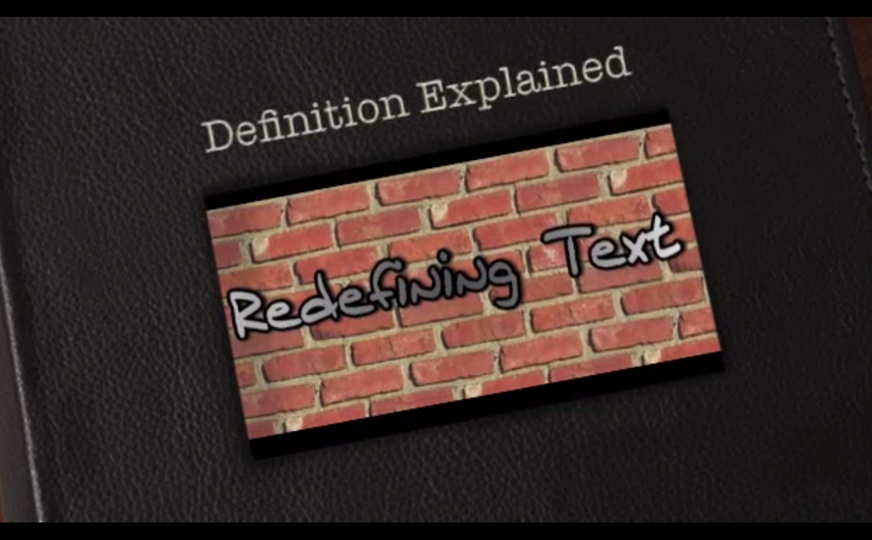 Redefining Text