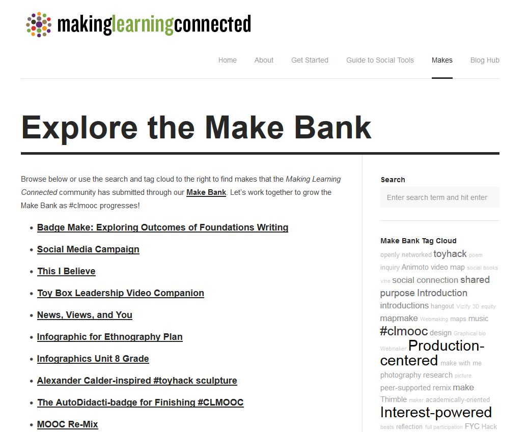 The Make Bank: Self-directed professional learning and user-generated content