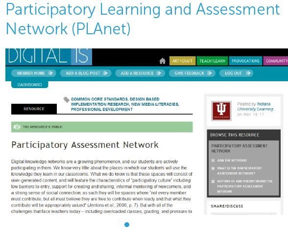 Participatory Learning and Assessment Network (PLAnet)