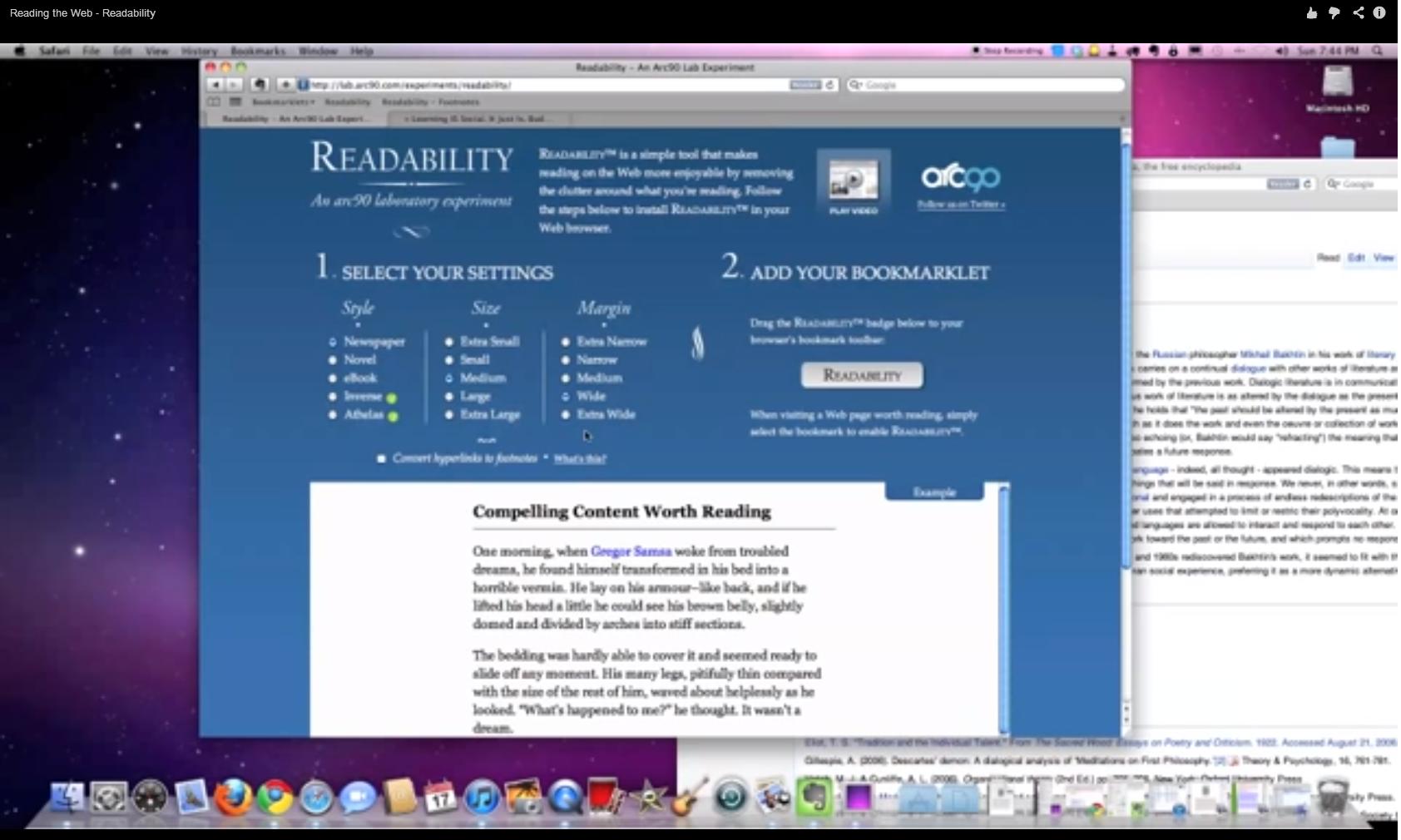 Reading the Web - Readability