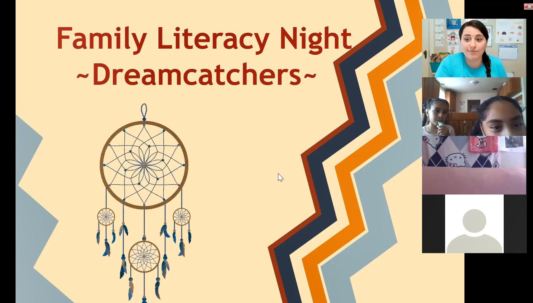 Family Literacy Night-Dreamcatchers