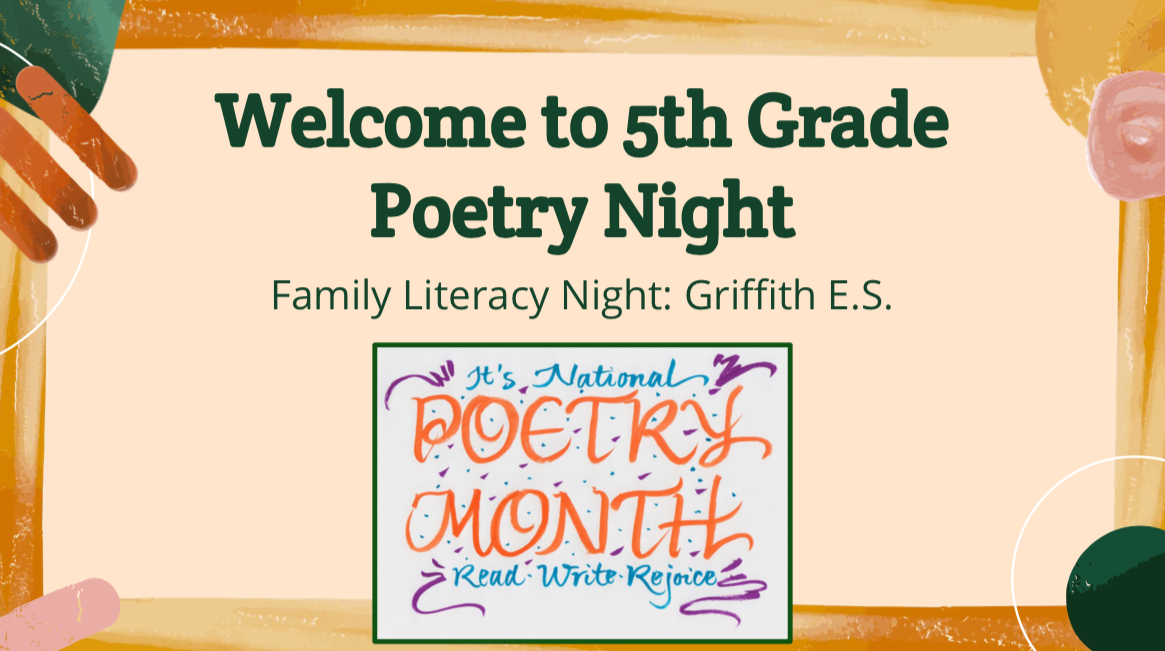 Family Literacy Night: 5th Grade Poetry Night